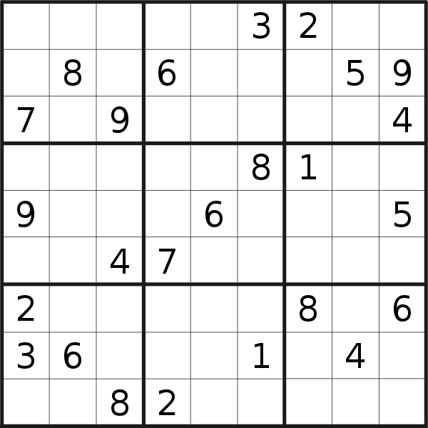 Sudoku puzzle for <br />Thursday, 9th of April 2020