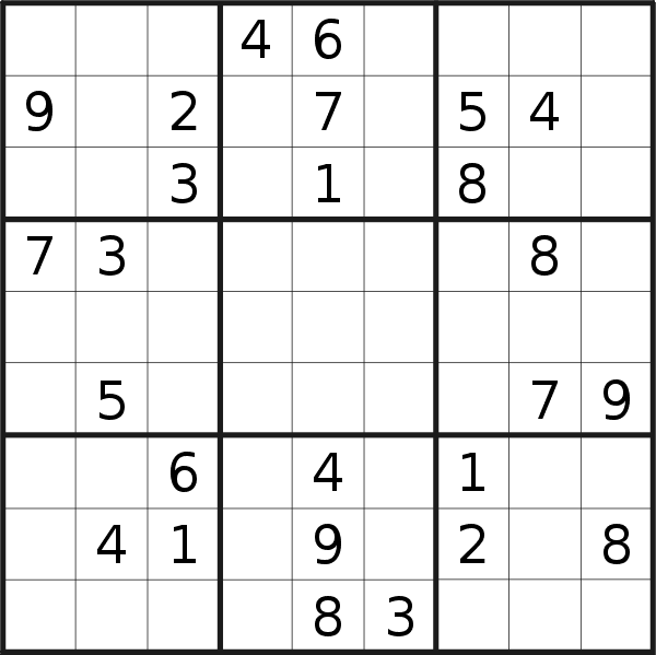 Sudoku puzzle for <br />Thursday, 16th of April 2020