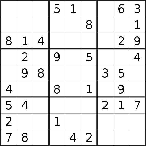 Sudoku puzzle for <br />Saturday, 25th of April 2020