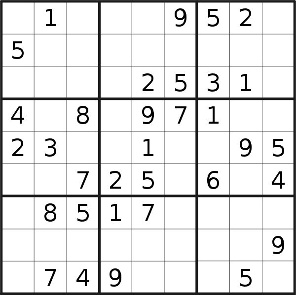 Sudoku puzzle for <br />Thursday, 7th of May 2020