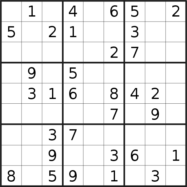 Sudoku puzzle for <br />Tuesday, 12th of May 2020