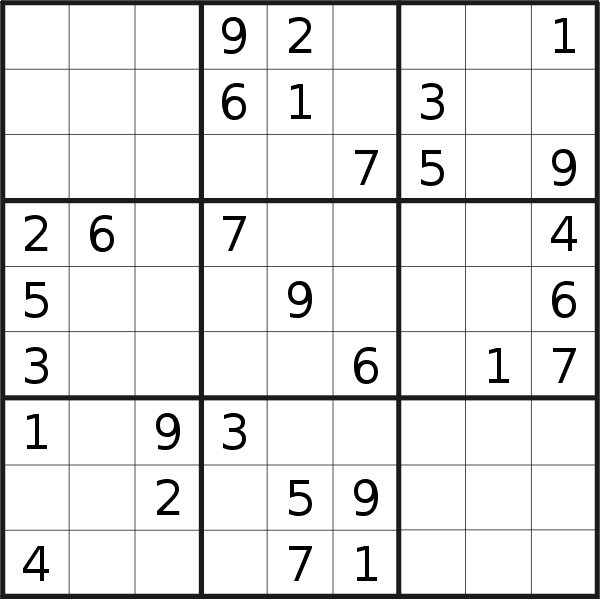 Sudoku puzzle for <br />Wednesday, 13th of May 2020