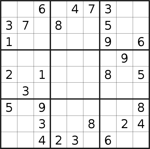 Sudoku puzzle for <br />Wednesday, 3rd of June 2020