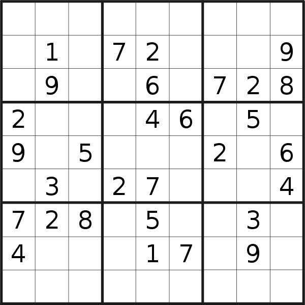 Sudoku puzzle for <br />Wednesday, 17th of June 2020