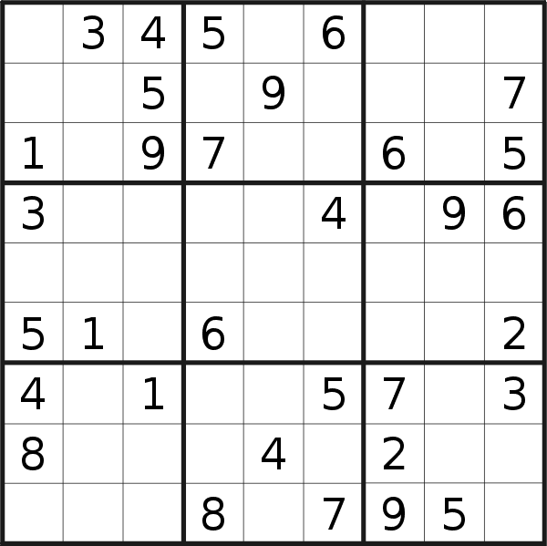 Sudoku puzzle for <br />Thursday, 2nd of July 2020