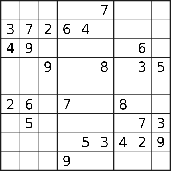 Sudoku puzzle for <br />Wednesday, 8th of July 2020