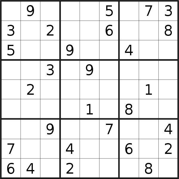 Sudoku puzzle for <br />Monday, 27th of July 2020