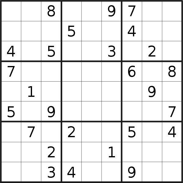 Sudoku puzzle for <br />Thursday, 6th of August 2020