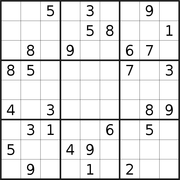 Sudoku puzzle for <br />Friday, 14th of August 2020