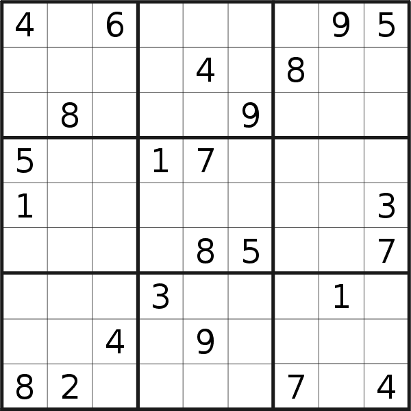 Sudoku puzzle for <br />Thursday, 20th of August 2020