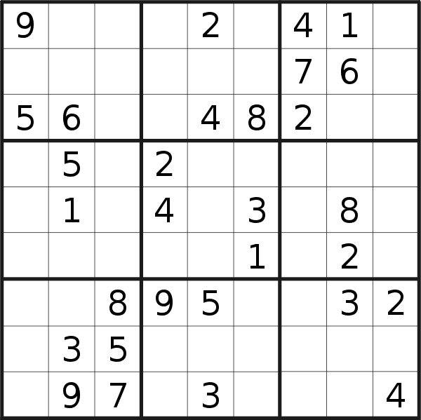 Sudoku puzzle for <br />Friday, 28th of August 2020