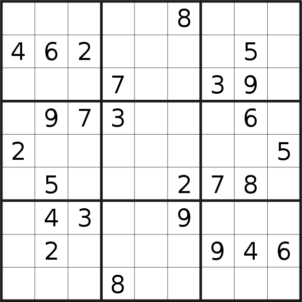 Sudoku puzzle for <br />Monday, 14th of September 2020