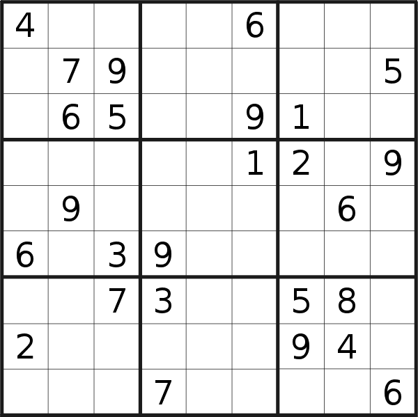 Sudoku puzzle for <br />Tuesday, 13th of October 2020