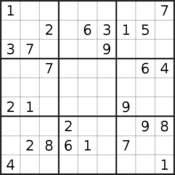 Sudoku puzzle for <br />Wednesday, 21st of October 2020