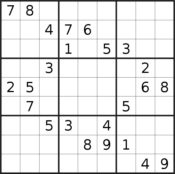 Sudoku puzzle for <br />Tuesday, 27th of October 2020