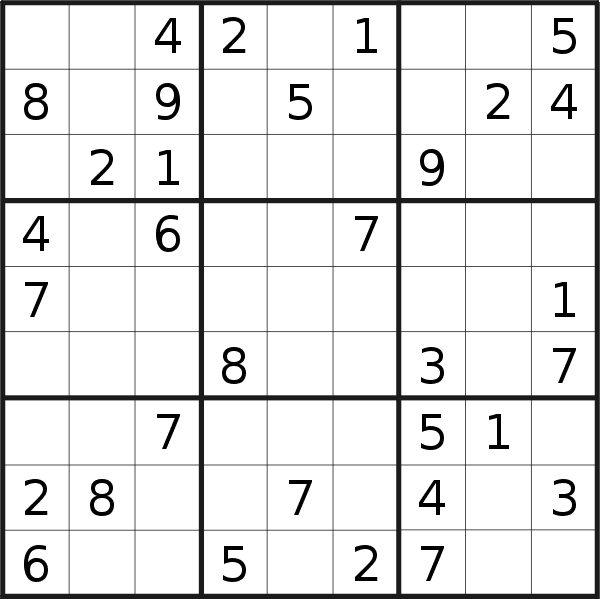 Sudoku puzzle for <br />Wednesday, 28th of October 2020