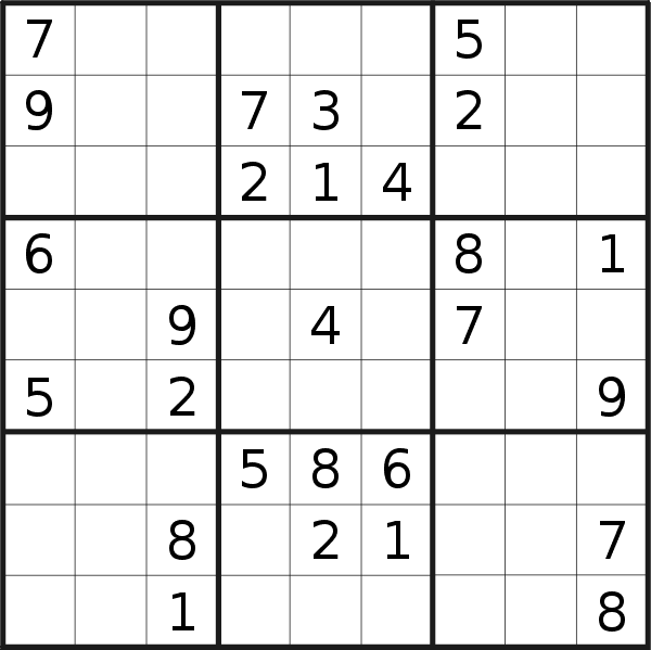 Sudoku puzzle for <br />Friday, 30th of October 2020