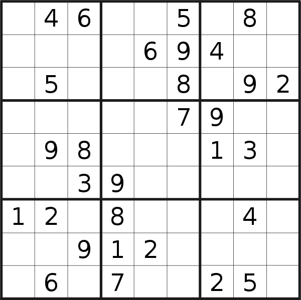 Sudoku puzzle for <br />Monday, 2nd of November 2020