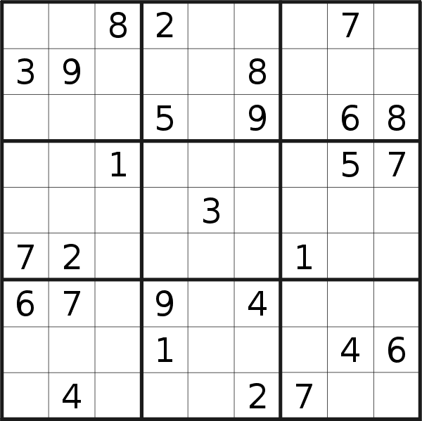 Sudoku puzzle for <br />Tuesday, 17th of November 2020