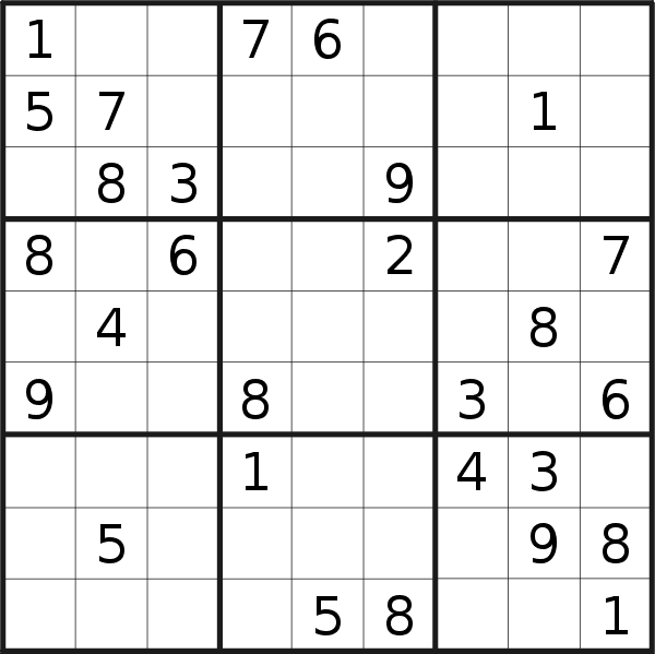 Sudoku puzzle for <br />Thursday, 19th of November 2020