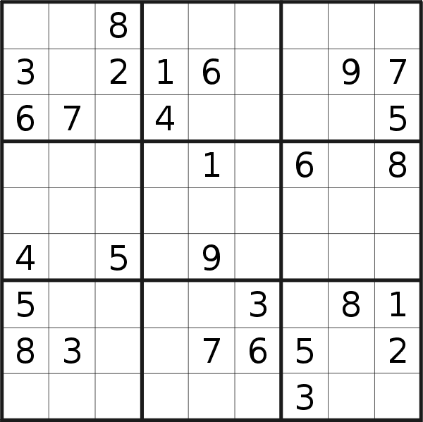 Sudoku puzzle for <br />Friday, 1st of January 2021