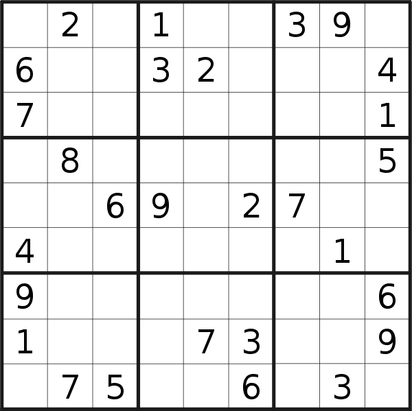 Sudoku puzzle for <br />Wednesday, 10th of February 2021