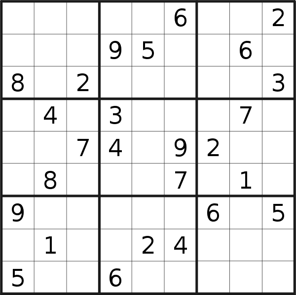 Sudoku puzzle for <br />Thursday, 1st of April 2021
