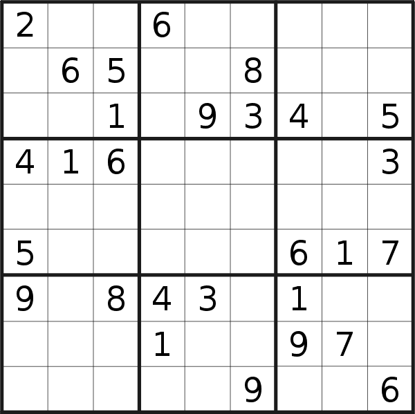 Sudoku puzzle for <br />Wednesday, 7th of April 2021