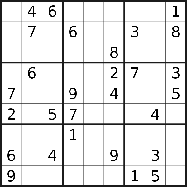 Sudoku puzzle for <br />Saturday, 10th of April 2021
