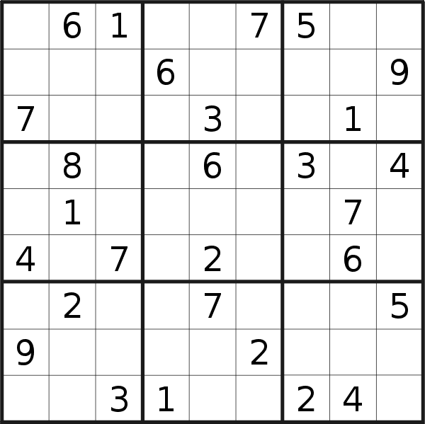 Sudoku puzzle for <br />Wednesday, 14th of April 2021