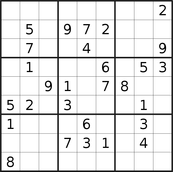 Sudoku puzzle for <br />Friday, 16th of April 2021