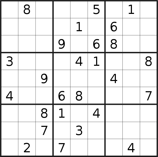 Sudoku puzzle for <br />Sunday, 18th of April 2021