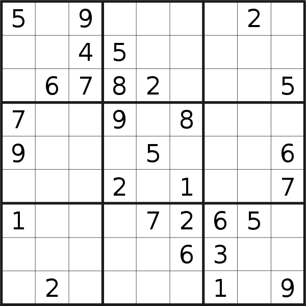Sudoku puzzle for <br />Wednesday, 28th of April 2021