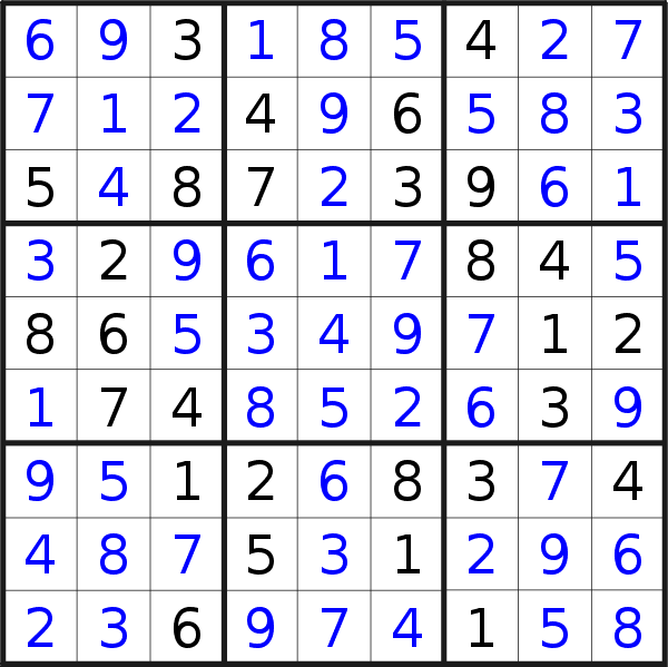 Sudoku solution for puzzle published on Saturday, 4th of July 2020