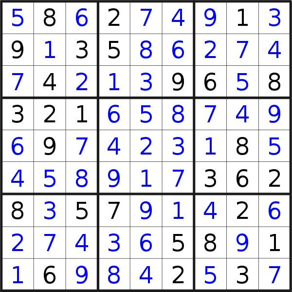 Sudoku solution for puzzle published on Wednesday, 14th of October 2020