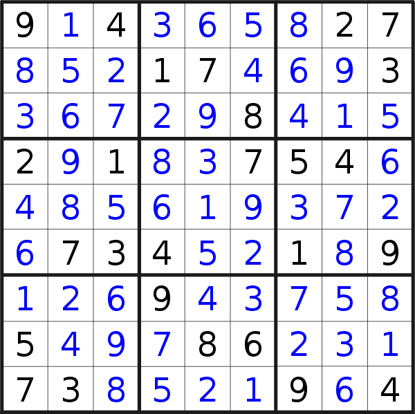 Sudoku solution for puzzle published on Sunday, 4th of April 2021