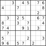 sudoku puzzle published on 2019/06/17