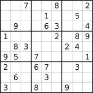 sudoku puzzle published on 2019/07/01
