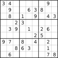 sudoku puzzle published on 2019/07/09