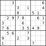 sudoku puzzle published on 2019/08/09