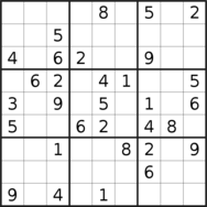 sudoku puzzle published on 2019/08/16