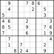 sudoku puzzle published on 2019/08/22
