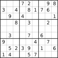 sudoku puzzle published on 2019/10/20