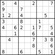 sudoku puzzle published on 2020/03/27