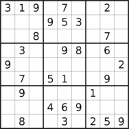 sudoku puzzle published on 2020/08/15