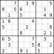 sudoku puzzle published on 2020/12/20