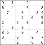 sudoku puzzle published on 2020/12/24