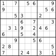 sudoku puzzle published on 2021/01/03