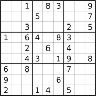 sudoku puzzle published on 2021/01/08