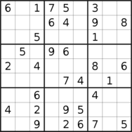 sudoku puzzle published on 2021/01/16